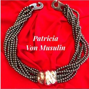Patricia Von Musulin Hematite Sterling Necklace